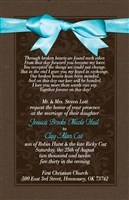 Chocolate Brown & Tiffany Blue Formal Wedding Invitations with matching reply and/or direction cards
