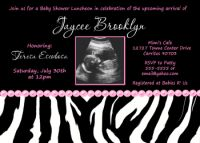 Zebra Baby Girl Shower Invitations