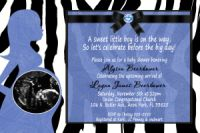Blue & Zebra Print Baby Boy Shower Invitations