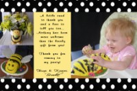 Bumble Bee Thank You Card Birthday Invitation