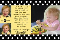 Buzzing Bee Thank You Card Birthday Invitation