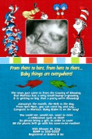Dr Seuss Baby Shower Invitation Colorful Primary