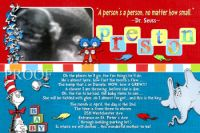 Dr Seuss Baby Name Blocks Ultrasound Shower Invitations