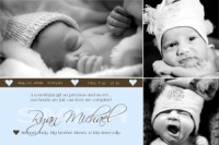 With all my heart baby boy birth announcement