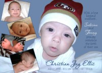 Collage Baby Boy Birth Announcement