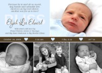 Our hearts are full baby boy birth announcement