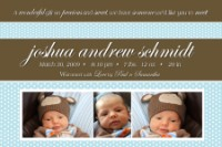 Teal & Brown Polk dot Boy Birth Announcement