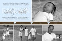 With all my heart collage baby boy birth announcement