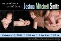 Simply Boy Birth Announcement