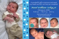 Bubbly Blue Boy Birth Announcement