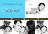 Tiffany Turquoise Birth Announcement
