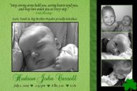 Shamrock Green Irish Blessing Birth Announcement