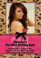 Leopard Cheetah Photo Birthday Invitation
