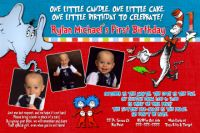 Dr Seuss First Birthday�Invitation (can be used for any age)