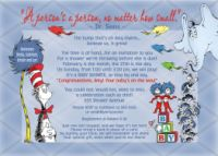 Dr Seuss Cat in the Hat Horton Baby Shower Invitation No Photo