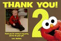 Elmo Brown Yellow Thank You Card