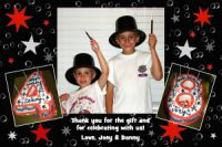 Boy's Magic Party Thank You Card