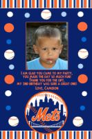 Mets Birthday Photo Invitation (can be done in any team)
