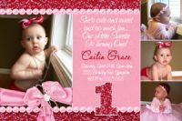 Bling & Glitter First Birthday Invitation