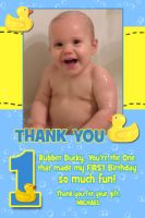 Rubber Ducky Duck Thank You Card