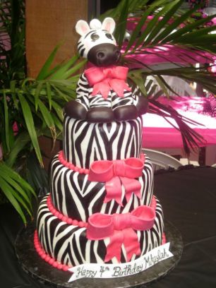 Zebra 4th Birthday Party